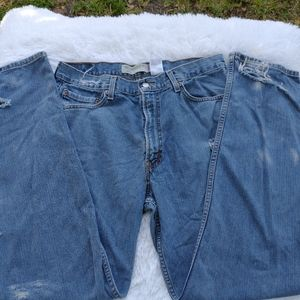 Levi's 550 vintage distressed high rise perfect 36
